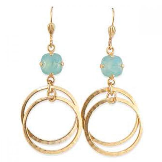 Catherine Popesco Double Hoop Crystal Earrings - Assorted Colors