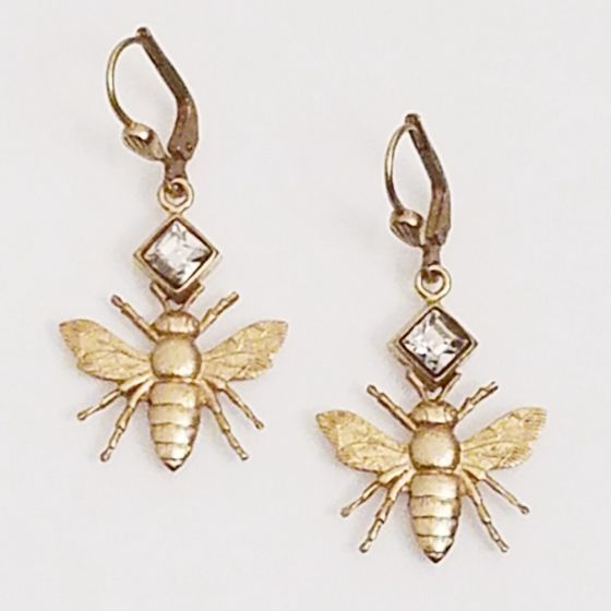 Catherine Popesco Bee Crystal Earrings