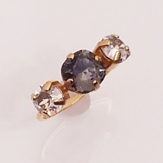 Catherine Popesco Three Stone Crystal Ring