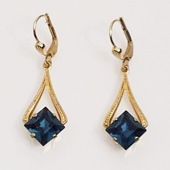Catherine Popesco Square Crystal Drop Earrings - Assorted Colors