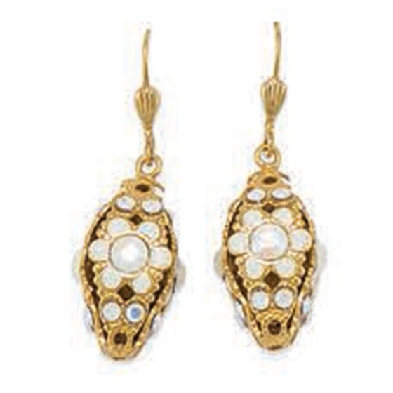 Catherine Popesco French Enamel 3-D Diamond Shaped Crystal Earrings - Assorted Colors