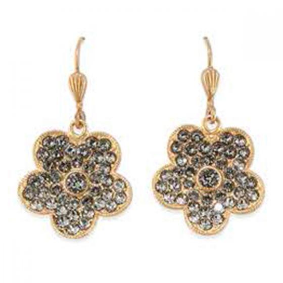Catherine Popesco Rhinestone Flower Crystal Earrings - Assorted Colors