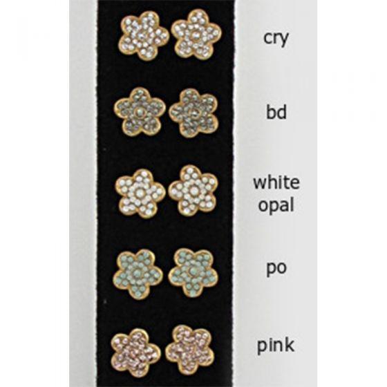 Catherine Popesco Rhinestone Flower Crystal Post Earrings - Assorted Colors