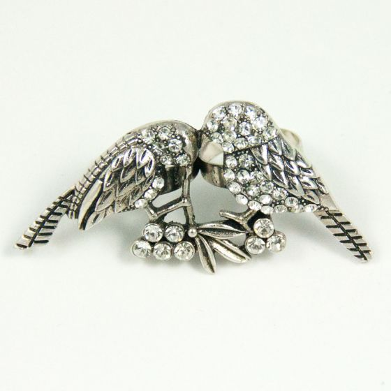 Silver Two Finger Ring With Birds Other