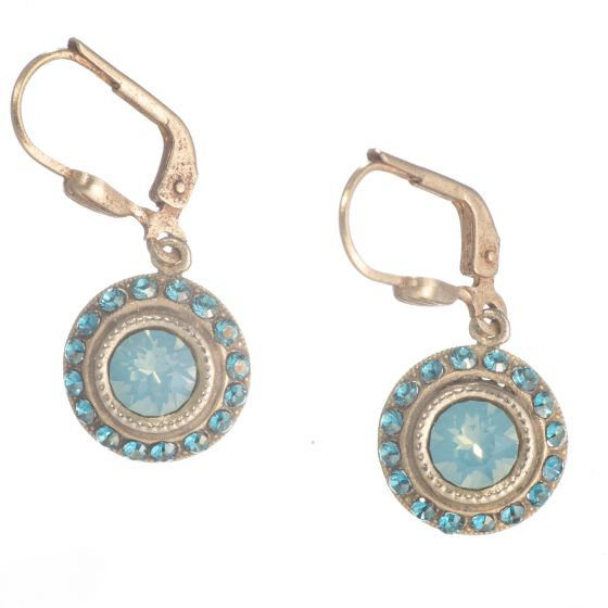 Catherine Popesco Small Round Rhinestone Dangle Earrings - Assorted Colors