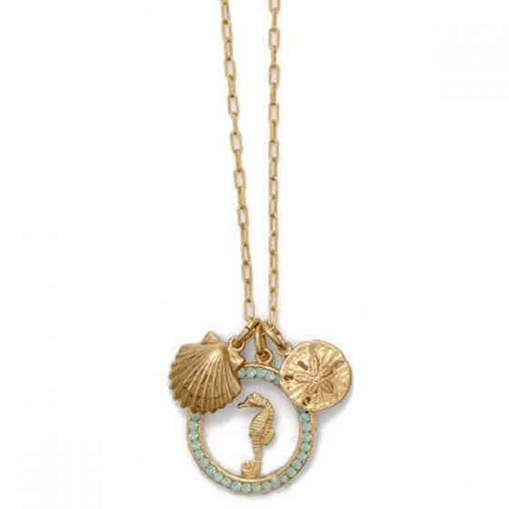 Catherine Popesco Crystal Pacific Opal Seaside Charm Necklace