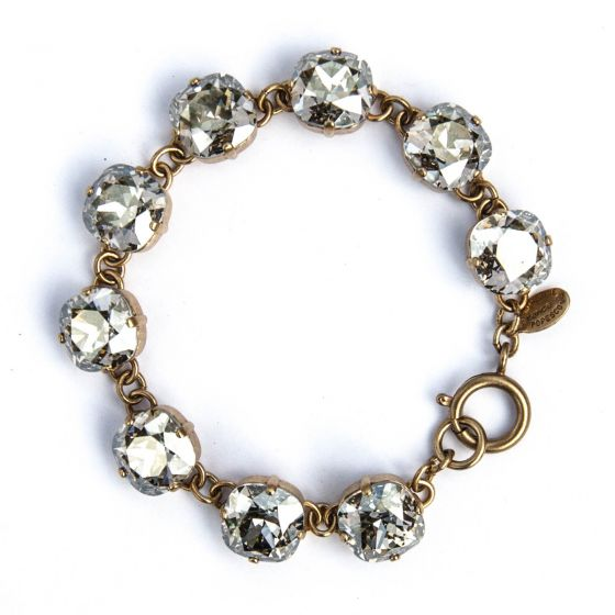 Catherine Popesco Large Stone Crystal Bracelet - Shade and Gold