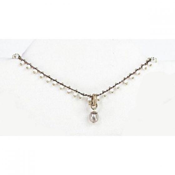 Catherine Popesco White Beaded Pearl Necklace