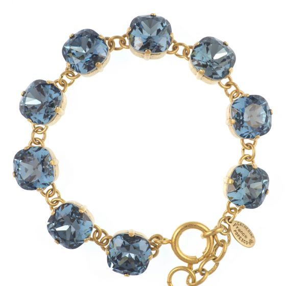 Catherine Popesco Large Stone Crystal Bracelet - Midnight Blue and Gold