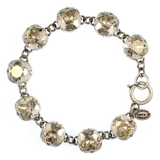 Catherine Popesco Large Stone Crystal Bracelet - Shade & Silver