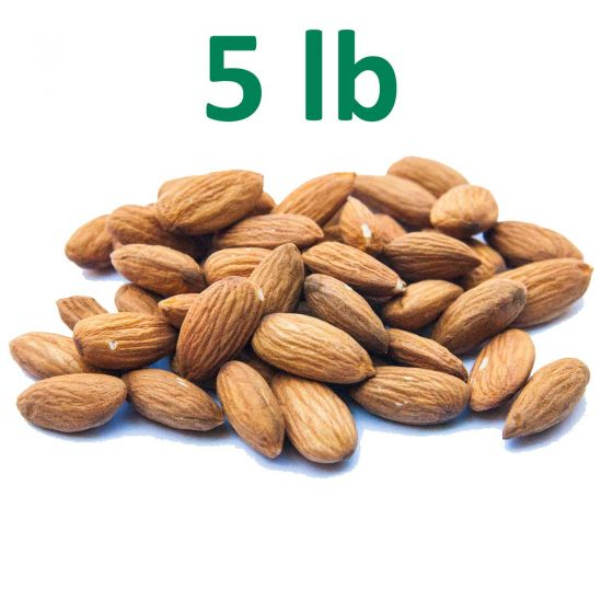 Raw, Unpasteurized, California Almonds - 5 pounds - Fresh - Free Shipping!