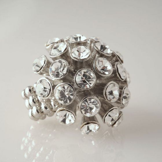 Crystal Starburst Stretch Ring  Bracchiale