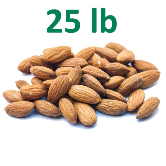 Raw, Unpasteurized, California Almonds - 25 pounds - New Crop! Free Shipping!