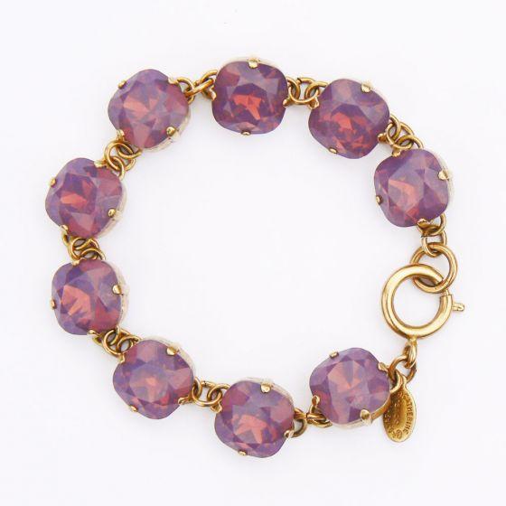 Catherine Popesco Large Stone Crystal Bracelet - Lavender & Gold