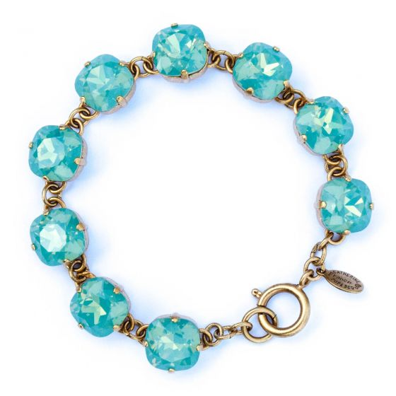 Catherine Popesco Large Stone Crystal Bracelet - Pacific Opal and Gold