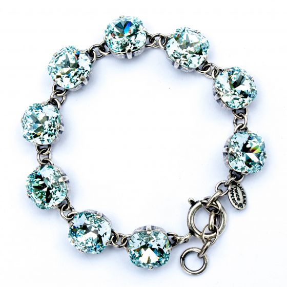 Catherine Popesco Large Stone Crystal Bracelet - Ice and Silver