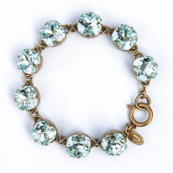 Catherine Popesco Large Stone Crystal Bracelet - Ice and Gold