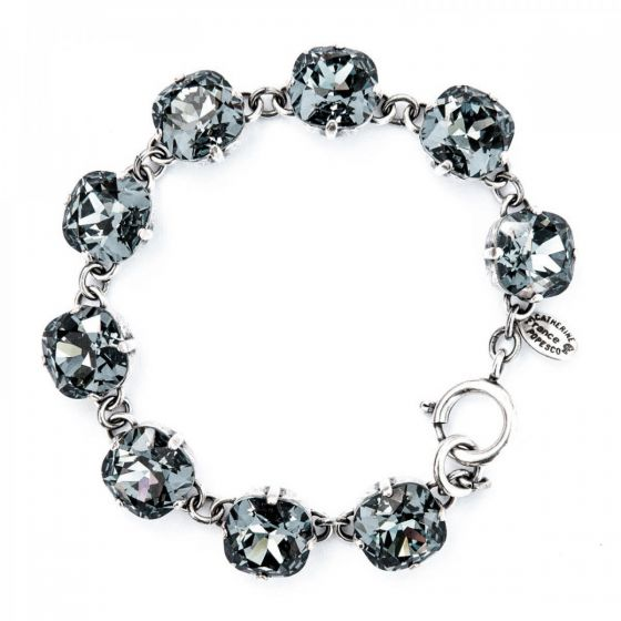 Catherine Popesco Large Stone Crystal Bracelet - Stormy and Silver