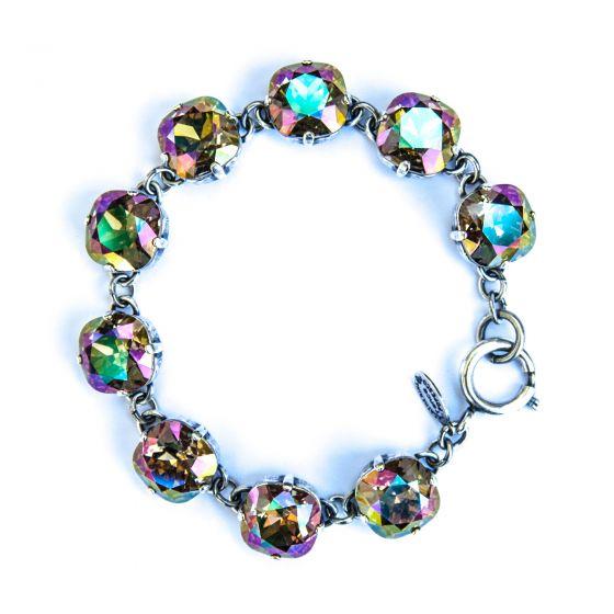 Catherine Popesco Large Stone Crystal Bracelet - Purple Haze and Silver