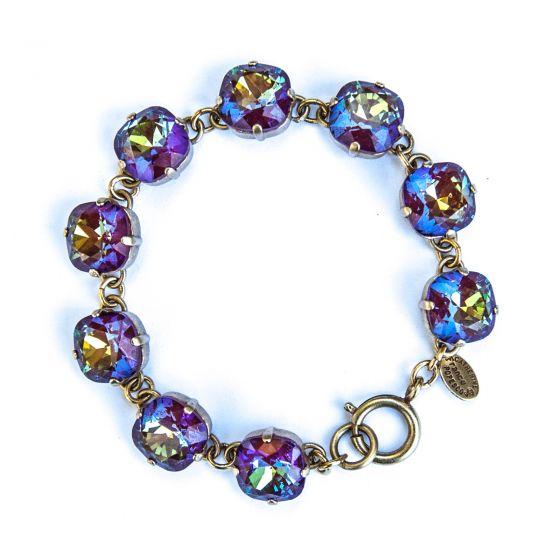 Catherine Popesco Large Stone Crystal Bracelet - Blue Ruby Gold