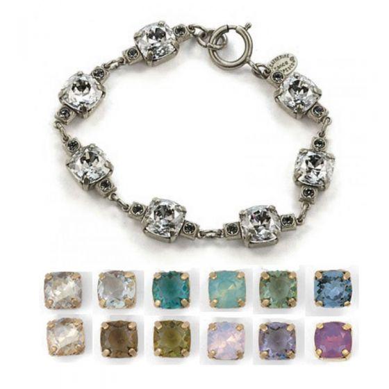 Medium Stone Crystal Bracelet - Ice and Gold