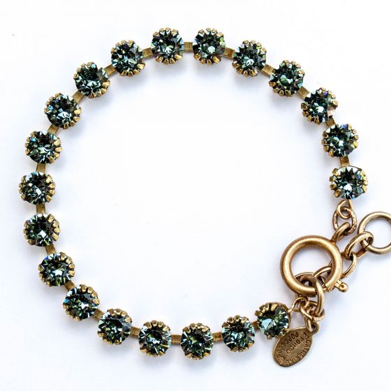 Catherine Popesco Small Stone Crystal Bracelet - Indian Sapphire Blue and Gold