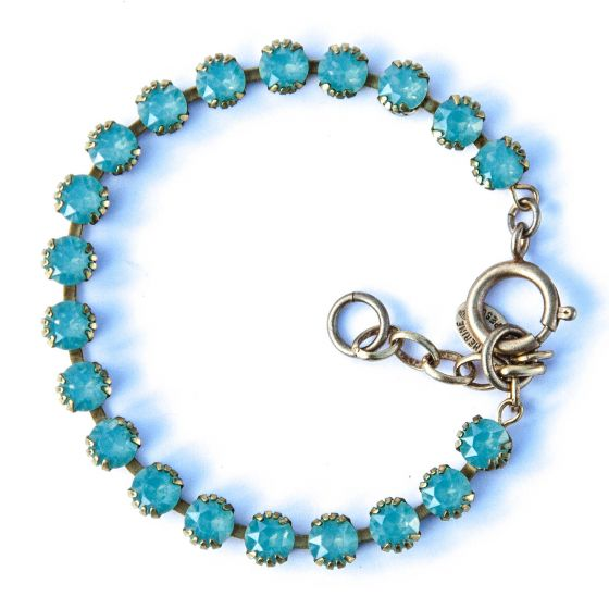 Catherine Popesco Small Stone Crystal Bracelet - Pacific Opal and Gold