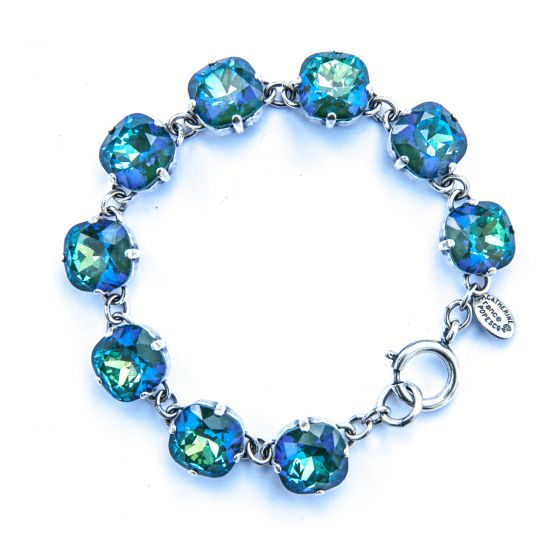 Catherine Popesco Large Stone Crystal Bracelet - Mermaid and Silver