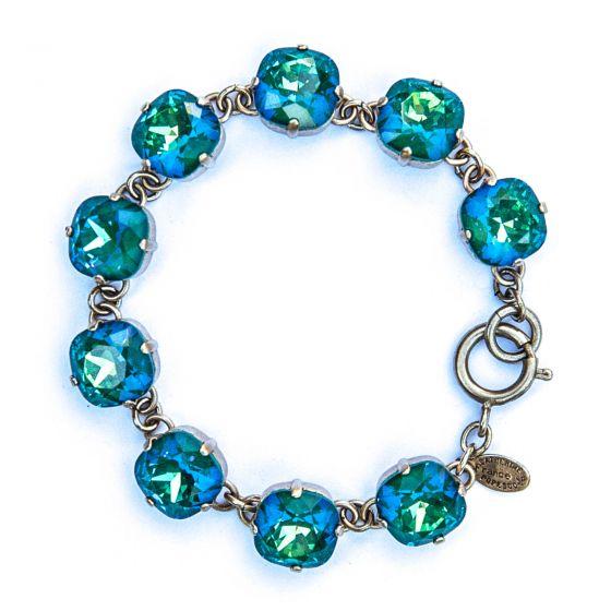 Catherine Popesco Large Stone Crystal Bracelet - Mermaid and Gold