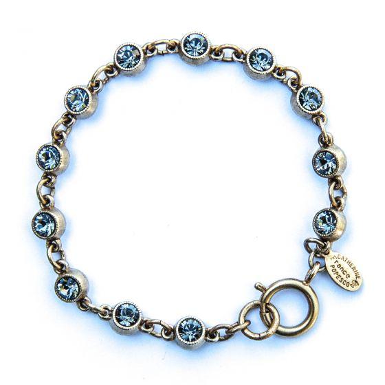 Catherine Popesco Petite Stone Bracelet in Black Diamond and Gold