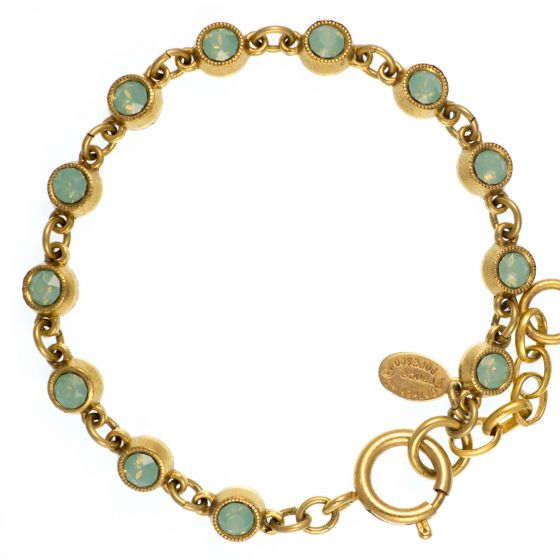 Catherine Popesco Petite Stone Bracelet in Pacific Opal and Gold