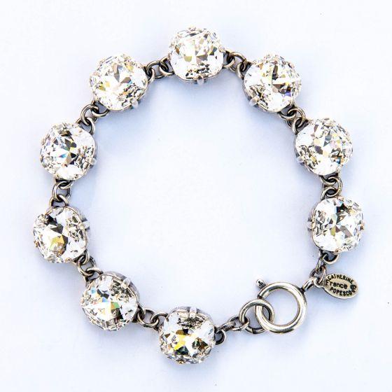 Catherine Popesco Large Stone Crystal (Diamond) Bracelet - Silver