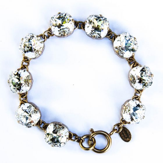 Catherine Popesco Large Stone Crystal (Diamond) Bracelet - Gold