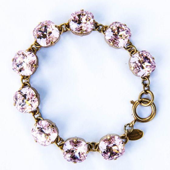 Catherine Popesco Large Stone Crystal Bracelet - Petal - Gold