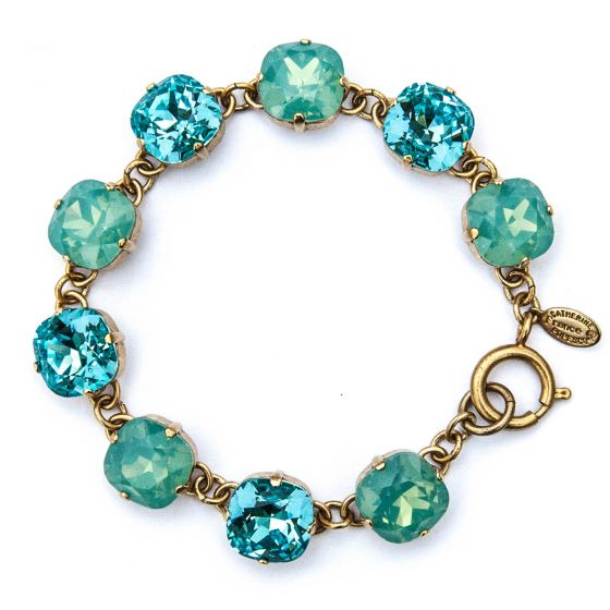 Catherine Popesco Large Stone Crystal Bracelet - Pacific Opal and Electric Blue Combo