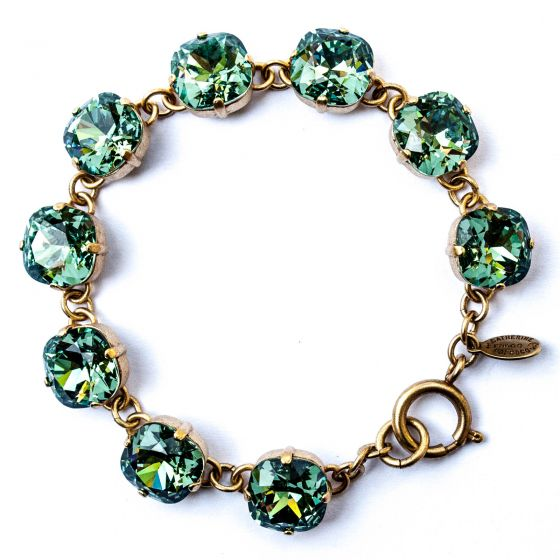 Catherine Popesco Large Stone Crystal Bracelet - Marine and Gold