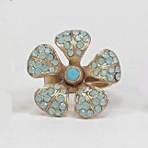 Catherine Popesco Crystal Flower Ring - Pacific Opal or Black Diamond