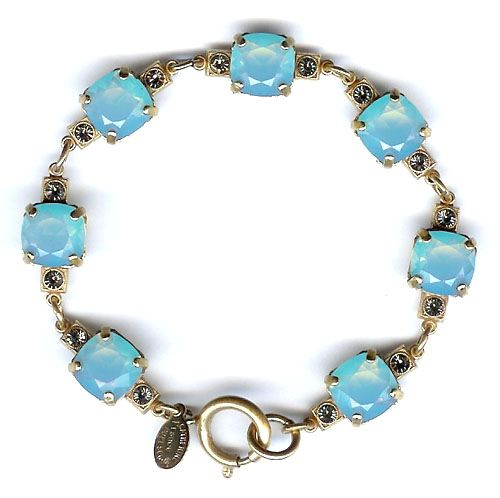 Catherine Popesco Medium Stone Crystal Bracelet - Pacific Opal and Gold