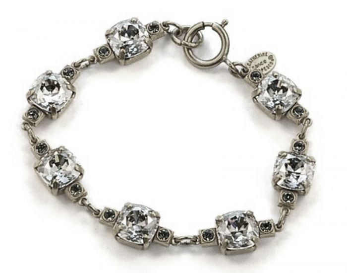 Catherine Popesco 10mm Medium Stone Crystal Bracelet - Shade and Silver