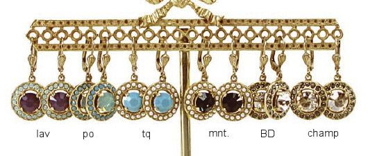 Catherine Popesco Small Round Dangle Earrings - Assorted Colors