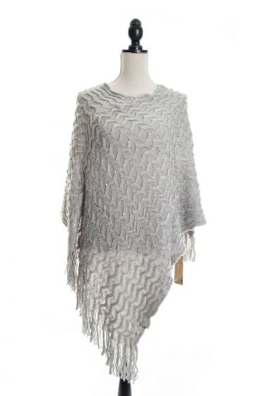 Dotted with Tiny Sequins Sweater Ponchos - Assorted Colors
