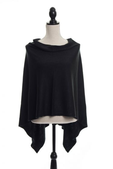 Cashmere Style Fine Knit Sweater Ponchos - Assorted Colors