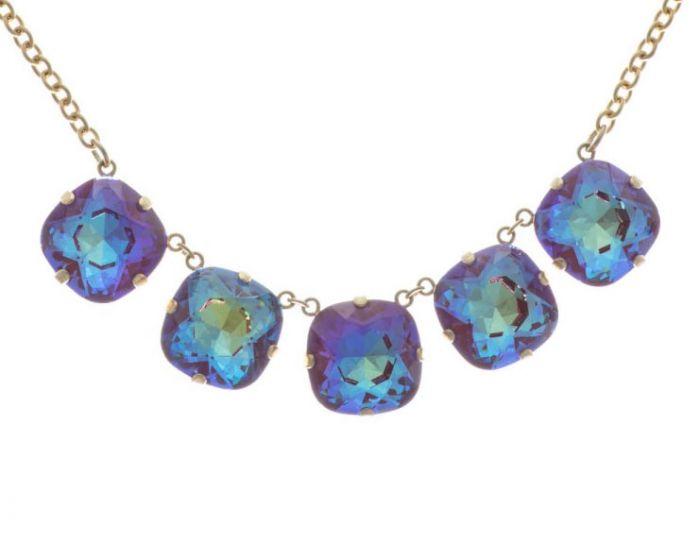 Catherine Popesco Jumbo Five Stone Necklace - Ultra Purple