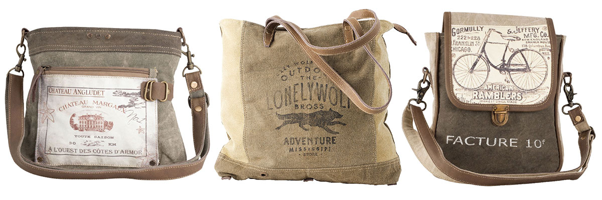 Clea Ray -Awesome Canvas and Leather Bags